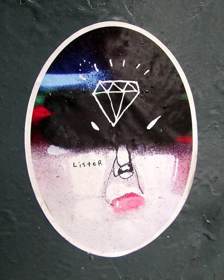Anthony Lister street art on sticker in NYC NYCs Stylish Sticker Art    Part l: Anthony Lister, Alice Mizrachi, Curly, RAE, Katsu, Billi Kid, Street Grapes & more