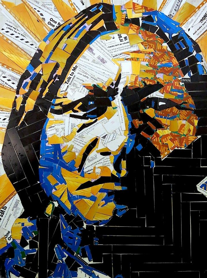 Carlos Pinto Metro card art