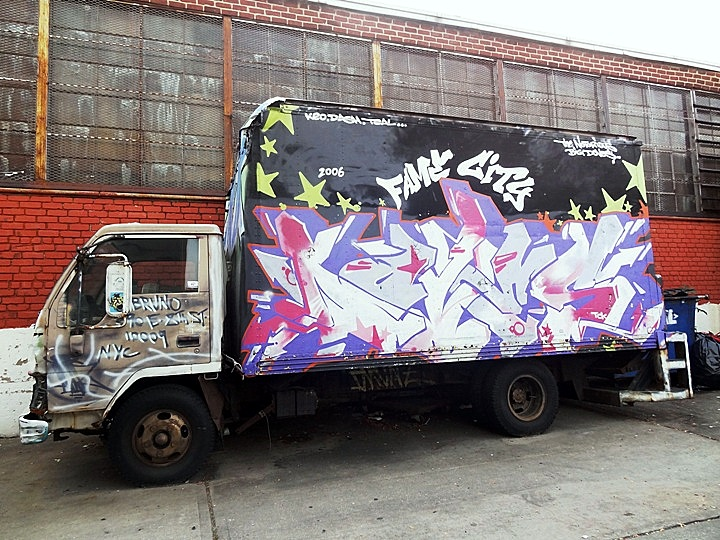 Doves graffiti on NYC truck NYC's Stylish Trucks & Vans – from the Whimsical to the Wild, Part VI: KA & UR New York, KR ONE, Cern, Auks One and Doves