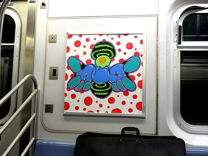 Nic707 InstaFame Phantom Art on NYC subway In Transit: Nic 707 Is Back on Track