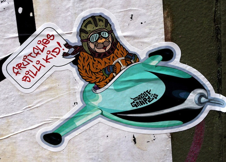 Billi Kid and Street Grapes on sticker