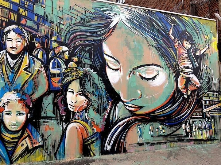 Alice Pasquini street art in Bushwick NYC Girls on Walls, Part VIII: Alice Pasquini, Jordan Betten, Alice Mizrachi, Lady Pink and Mor