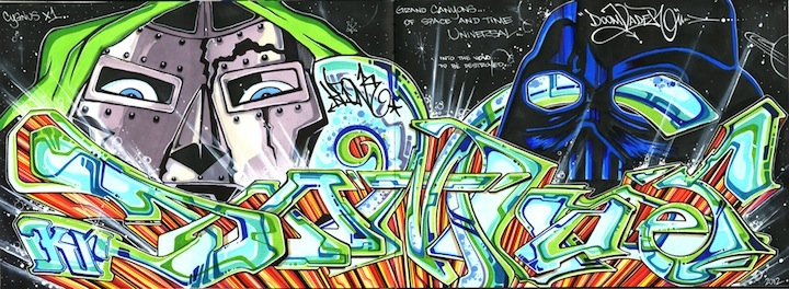 KR.ONE DOOMVADER in Black book  Blackbook Pieces and Tags: KR.ONE