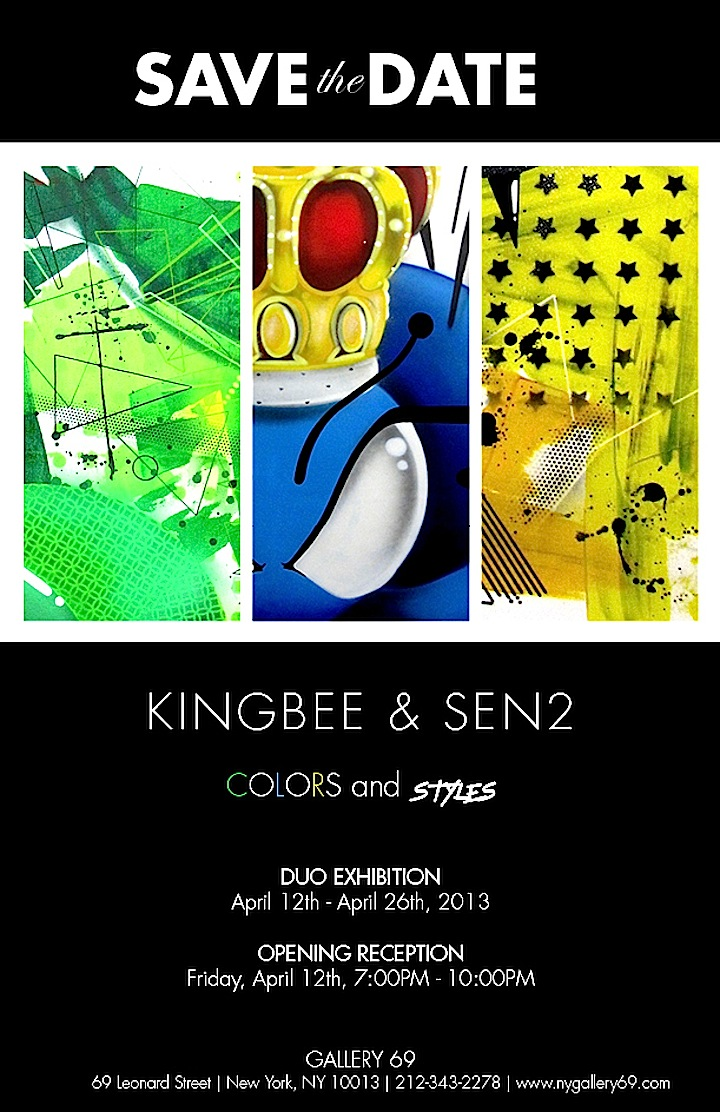 KingBee and Sen2 collabo at Gallery69 in Tribeca Speaking with Sen2