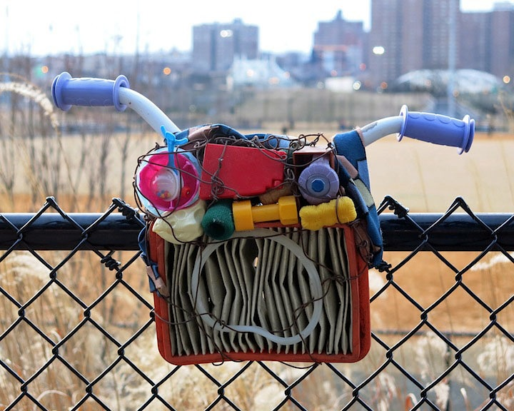 michael cuomo street art Bronx native Michael Cuomo Recycles Urban Refuse into Masks and Engages the Public