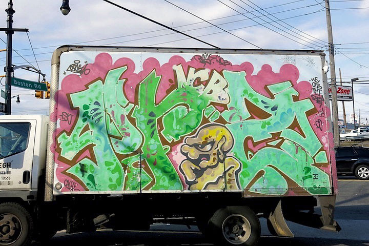 priz graffiti NYC truck NYC's Stylish Trucks & Vans – from the Whimsical to the Wild, Part VII: Xabu, JR, Grocer, Priz, Emo, Hefner & Never
