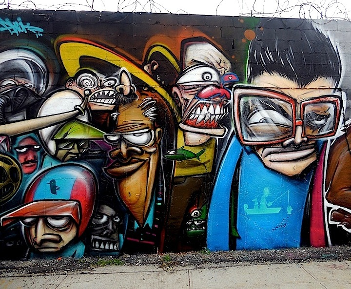Ewok street art in Bushwick Brooklyn NYC1 Faces in NYC Public Spaces: RAE, Youth Waste, Veng, The Yok, Ewok, Joseph Meloy, Aimee Cavazzi & JRs Inside Out NYC