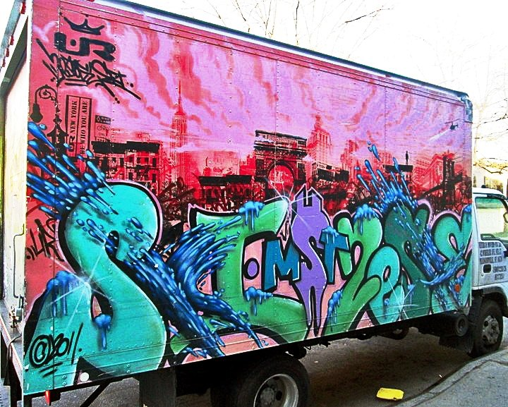 KA UR New York graffiti on NYC truck Speaking with Mike Baca and Fernando Romero of UR New York