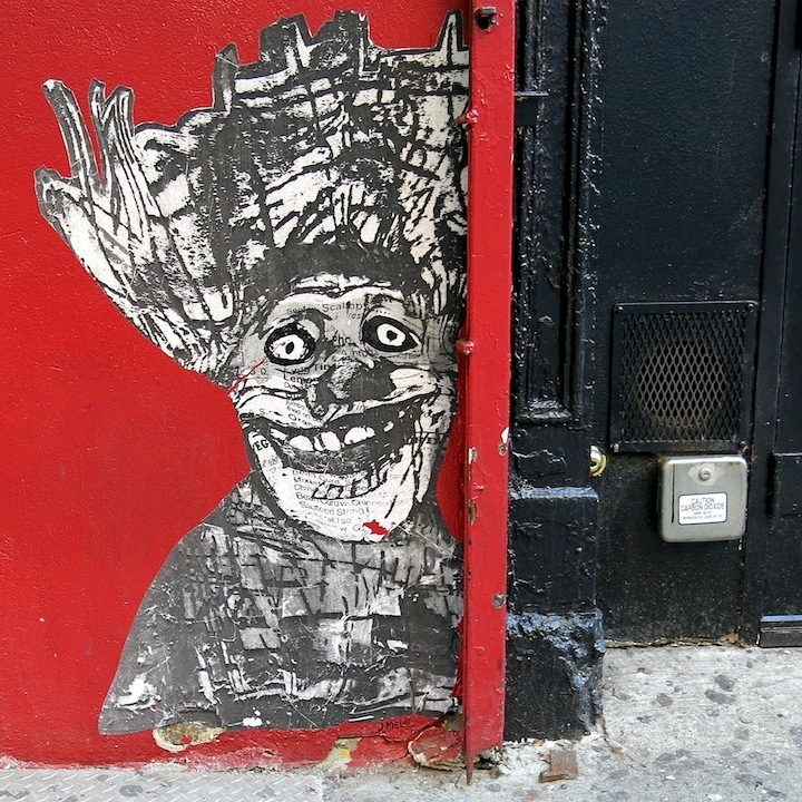 Meloy street art in NYC Faces in NYC Public Spaces: RAE, Youth Waste, Veng, The Yok, Ewok, Joseph Meloy, Aimee Cavazzi & JRs Inside Out NYC