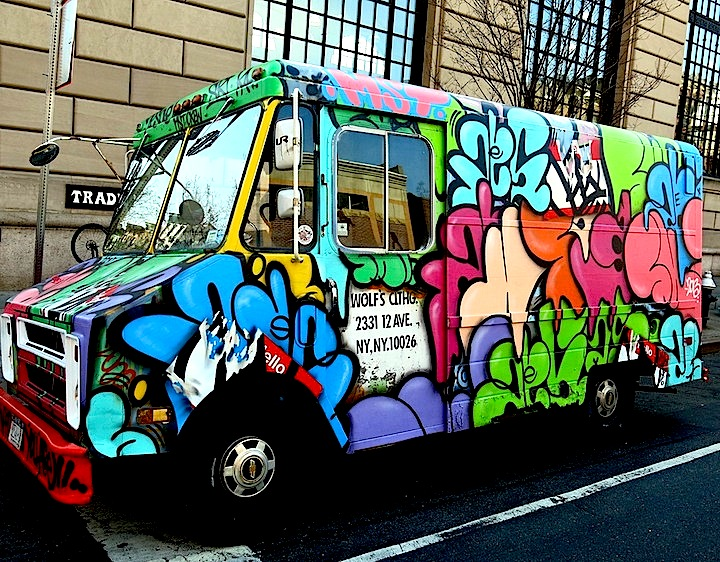 UR New York KA graffiti on bus Speaking with Mike Baca and Fernando Romero of UR New York