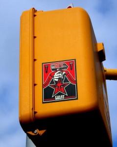 Shepard Fairey sticker