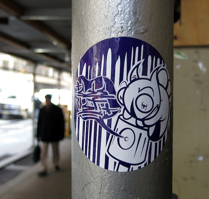 see one sticker art in NYC NYC's Stylish Sticker Art — Part III: Paul Insect, FKDL, Crasty, See One, Baser, Obey, SkinTone, Reka and 2Esae