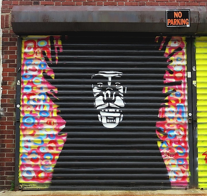 Joseph Meloy on Welling court shutter1 NYC Shutters – Part V: Kenji Takabayashi, Kosby, Zam Art, Sheryo & the Yok, Phetus, Hef, Joseph Meloy, Fumero and Wisher914