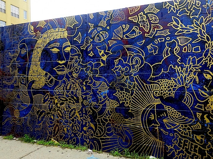 Joshua Gabriel artwork in Brooklyn NYC1 Brooklyn based Artist Joshua Gabriel Fashions Two Elegant Murals in Bedford Stuyvesant, Brooklyn