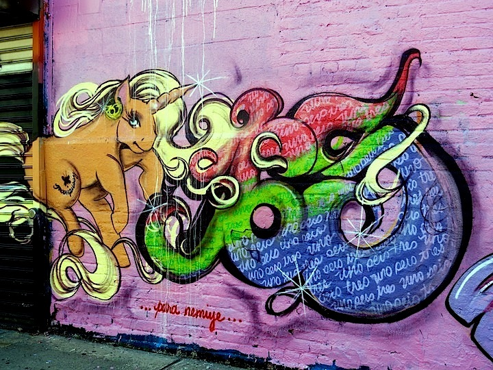 Miss 163 graffiti in Bronx NYC The Girls Up on Boone Avenue: UK Girls on Top (G.O.T) Join Local Writers for My Thuggy Pony All Girlz Jam