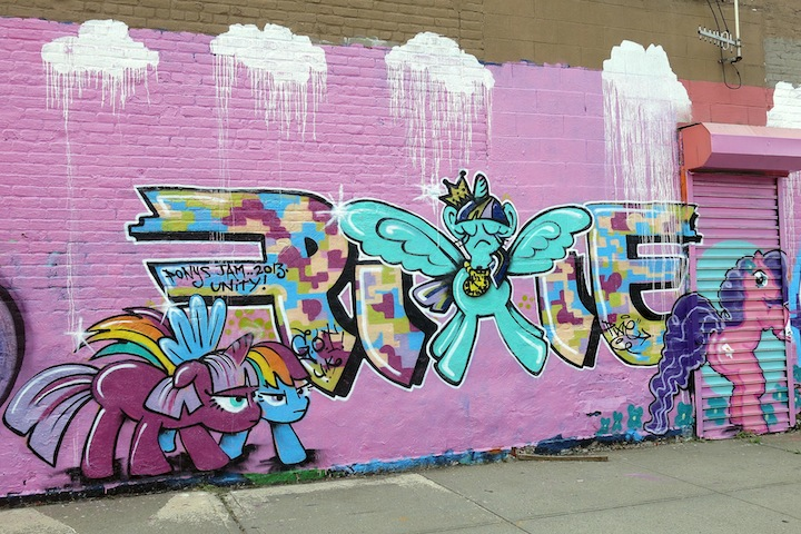 Pixie graffiti in Bronx NYC The Girls Up on Boone Avenue: UK Girls on Top (G.O.T) Join Local Writers for My Thuggy Pony All Girlz Jam