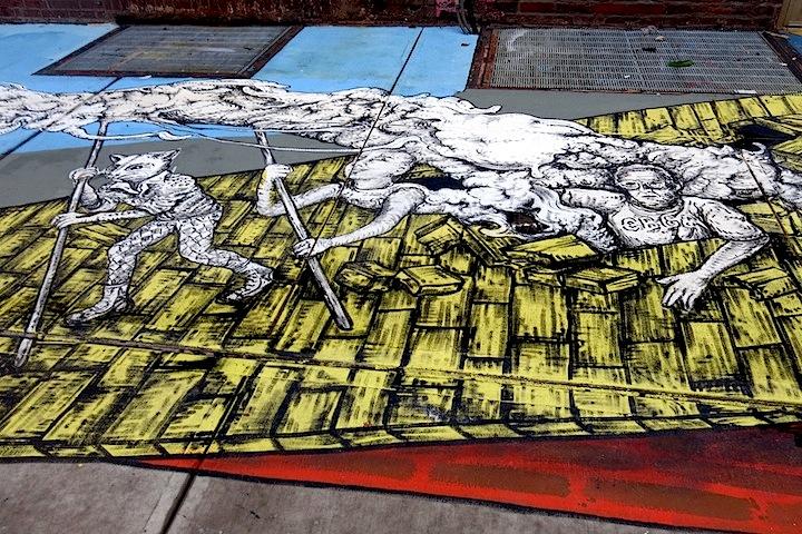 Raul Ayala Street art mural NYC Speaking with Ecuadorian Artist Raúl Ayala