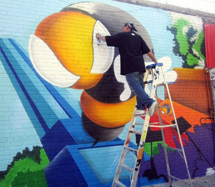 The Royal KingBee at Welling Court 4th Annual Welling Court Mural Project Kicks off Tomorrow with Wondrous Art and Huge Block Party