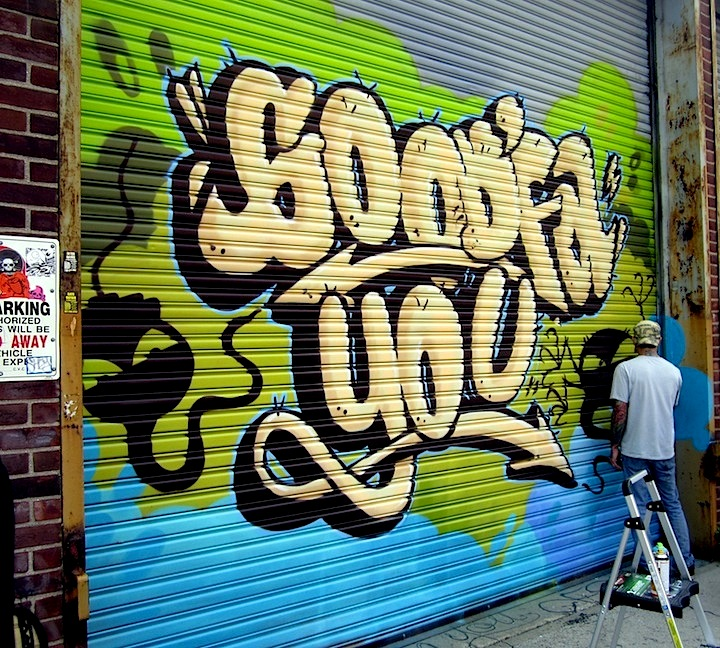 Zam graffiti at Welling Court NYC Shutters – Part V: Kenji Takabayashi, Kosby, Zam Art, Sheryo & the Yok, Phetus, Hef, Joseph Meloy, Fumero and Wisher914