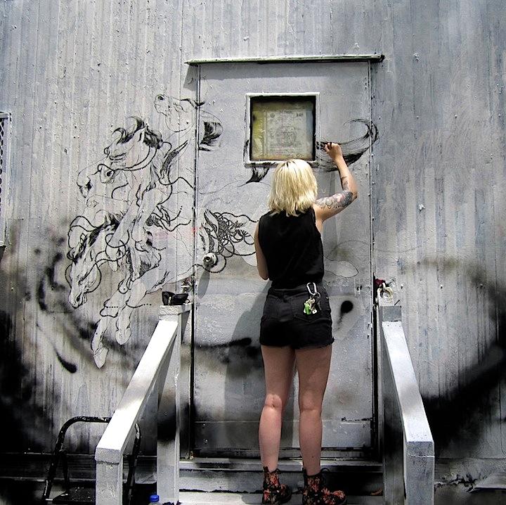 Cassie Lynn O'Neal Centre fuge Public Art Project NYC Centre Fuge Public Art Project — Cycle 9 with: Cern, Damien, QRST, Cassie Lynn O'Neal, Cake, Caroline Caldwell, Royce Bannon & Korn