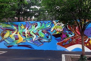Hef and per1 graffiti Hall of Fame NYC and  300x200 Hef and per1 graffiti Hall of Fame NYC and