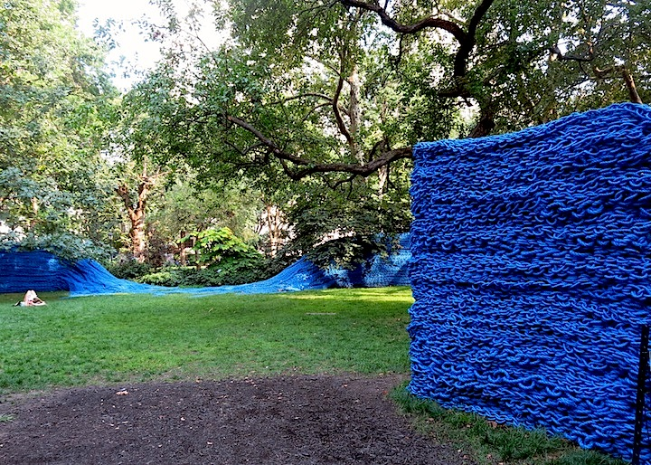 Orly-Genger-public-art-work-at Madison-Square-Park-blue