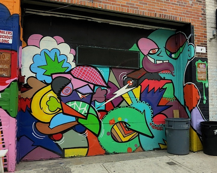 Reme821 street art Brooklyn Curious Characters on NYC Streets: Zio Ziegler, Sheryo, JC, Lamour Supreme, Reme821, Sinned, QRST & Mr. Penfold