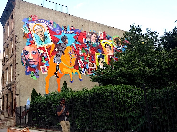 Bedford Stuyvesant mural Girls on Walls, Part X: Dasic & Rubin, Tristan Eaton, LMNOP, Alice Mizrachi, FKDL, Gore and How & Nosm