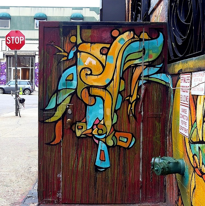Craig Anthony Miller on DUMBO door NYC's Expressive Doors, Part III: Judith Supine, ASVP, Bishop203, Craig Anthony Miller, The Yok, 13 Portals Project, Gaia and Jordan Betten