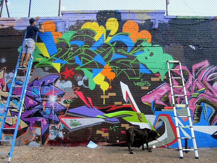 Baca paints graffiti Bronx NYC Boone Avenue Refashioned    Part I: Marthalicia Matarrita, Cern, Lady K. Fever, Cope2, UR New York, Skeme, Reme, Chris RWK & more