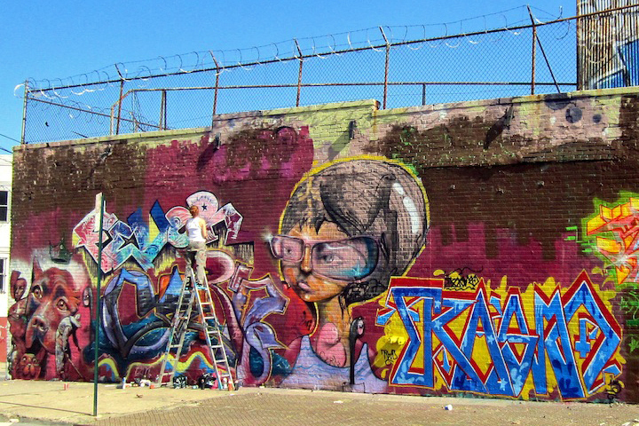 Boone Avene graffiti and street art Bronx NYC Boone Avenue Refashioned    Part I: Marthalicia Matarrita, Cern, Lady K. Fever, Cope2, UR New York, Skeme, Reme, Chris RWK & more