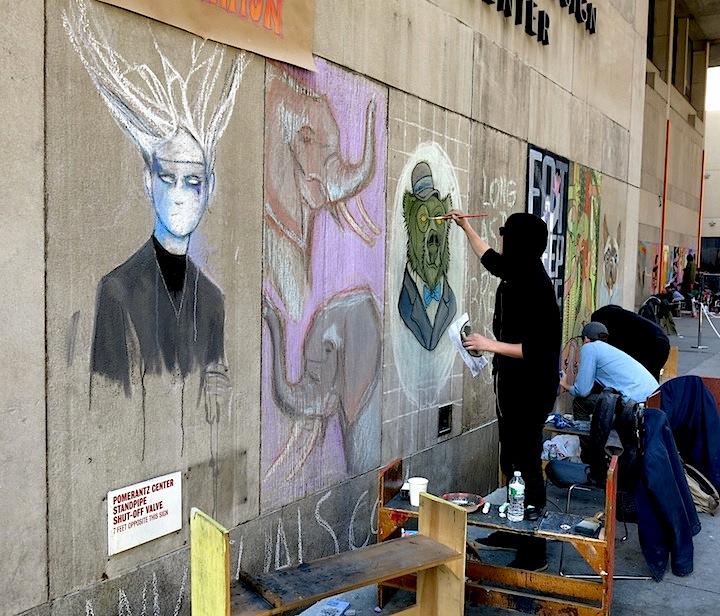 Chalk Art at FIT