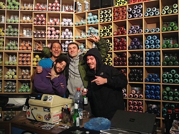 Devi in Tel Aviv graffiti shop
