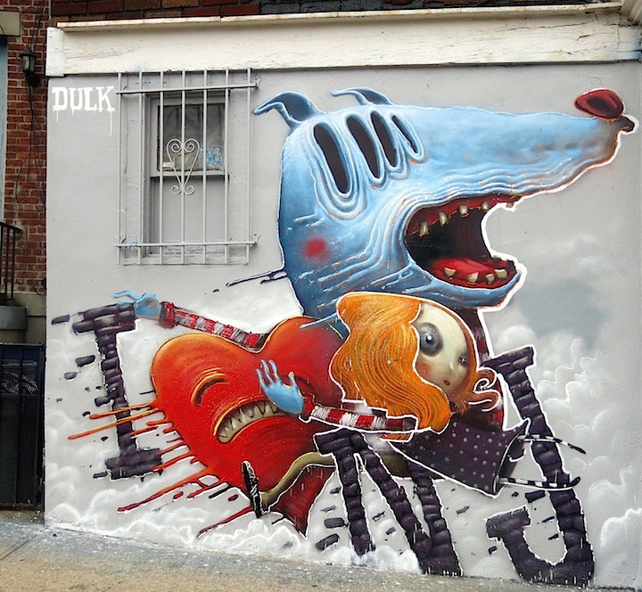 Dulk street art Jersey City Jersey Citys Burgeoning Street Art Scene: Pixel Pancho, LNY, MOR, Dulk, NoseGo, Mr. Mustart, Serringe, Distort, Then One, Ekundayo & more