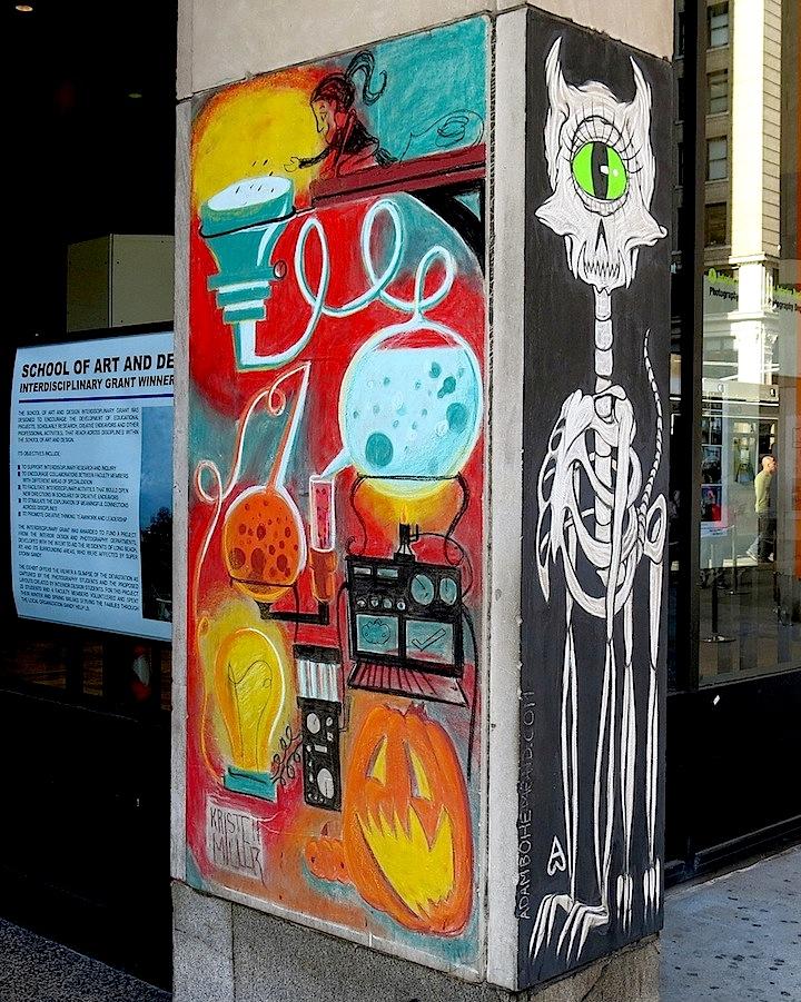 Kristen-Miller-and-Adam-Bohe-chalk-art-FIT
