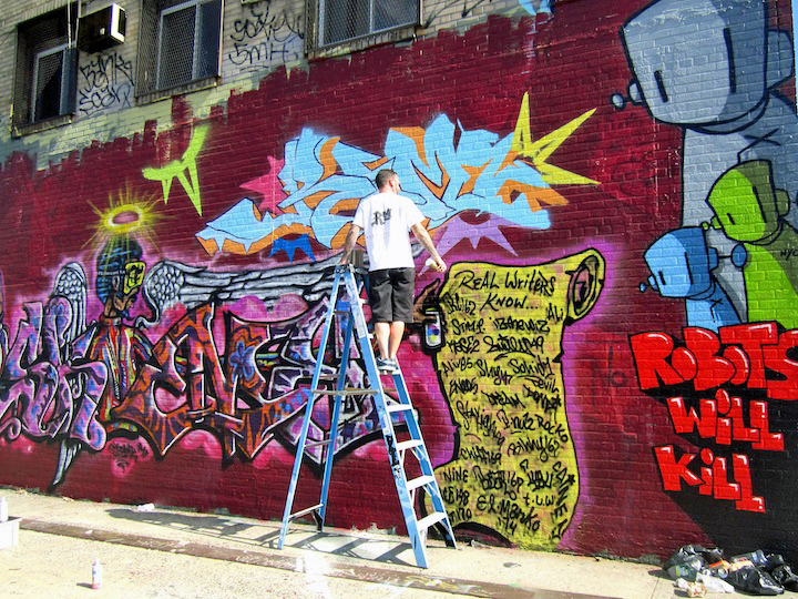 Skeme Reme Chris RWK graffiti and street art Bronx Boone Avenue Refashioned    Part I: Marthalicia Matarrita, Cern, Lady K. Fever, Cope2, UR New York, Skeme, Reme, Chris RWK & more