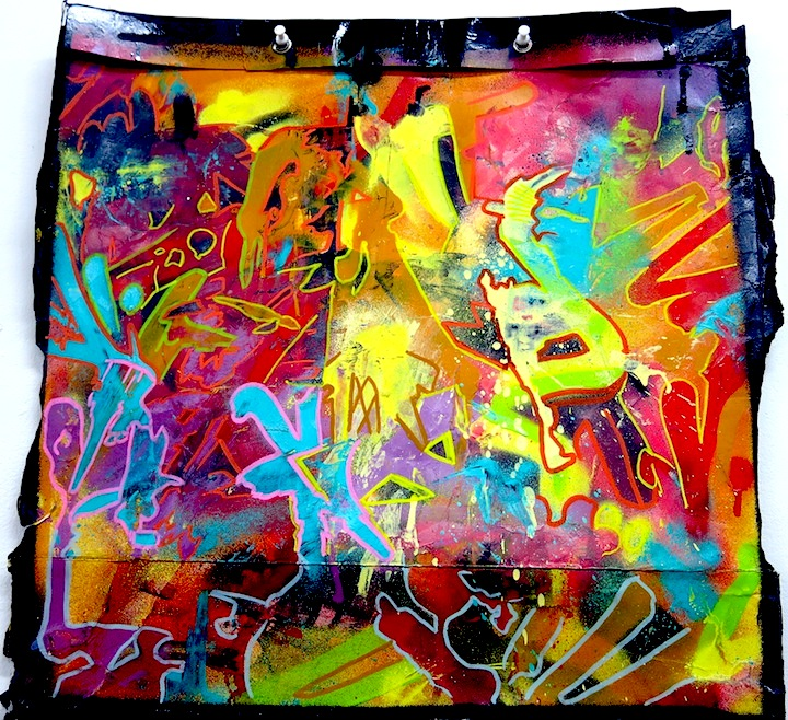 Abstract Graffiti Art On A Building Entrance Editorial Stock Photo ...