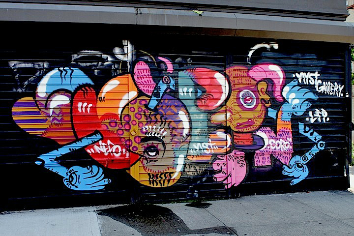 Nepo street art graffiti NYC Dariel MTZ on Bushwicks New York Street Gallery