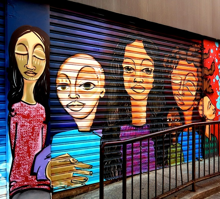 Alice Mizrachi street art NYC NYC Shutters – Part VI: Ewok, Alice Mizrachi, Michael De Feo, Part One, Vato, Beau, Elle & Hue, Crisp, Fumero and Icy & Sot