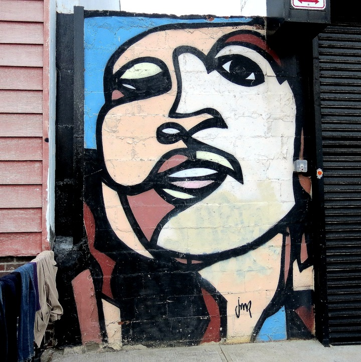 JMR street art NYC Faces in NYC Public Spaces, Part VI: Reka, RAE, JMR, Raquel Eschinique, Royce Bannon and Russell King