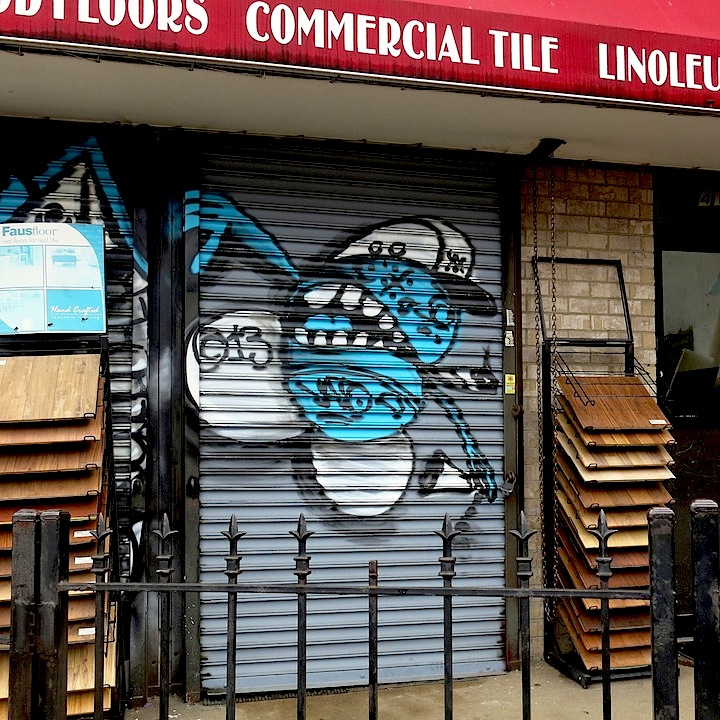 Vato street art shutter Williamsburg NYC NYC Shutters – Part VI: Ewok, Alice Mizrachi, Michael De Feo, Part One, Vato, Beau, Elle & Hue, Crisp, Fumero and Icy & Sot