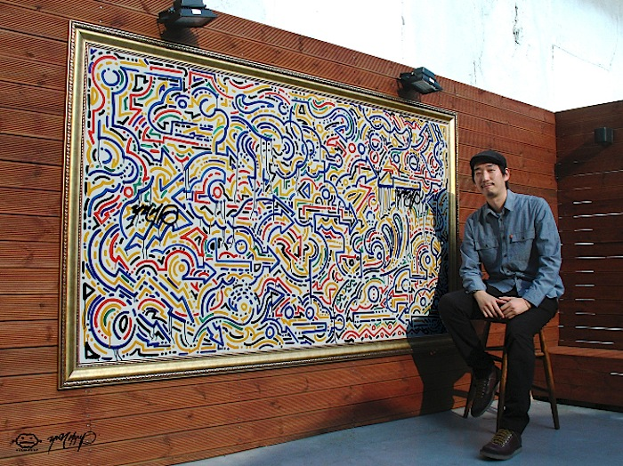 Yoon Hyup Krink on wood jpg Speaking with Korean Artist Yoon Hyup