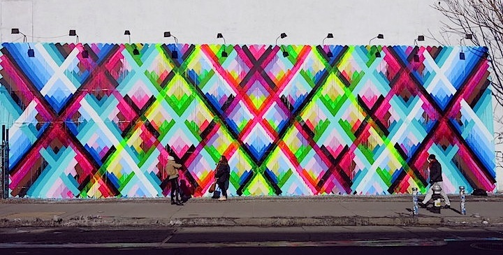 maya street art mural NYC 2 Maya Hayuk Brings her Sumptuous Visual Rhythms to Houston and Bowery in Lower Manhattan