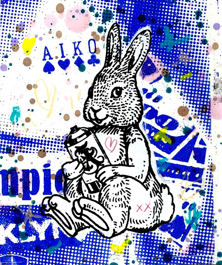 Lady Aiko Lady Aikos Playful Bunny Party at Red Hooks Gallery Brooklyn with Closing Party Next Saturday, March 29