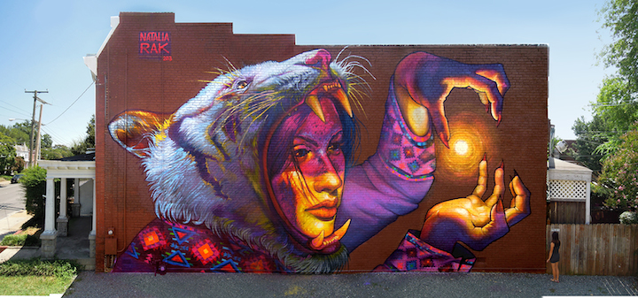 Natalia Rak street art let there be light  Speaking to Polands Natalia Rak in New York City