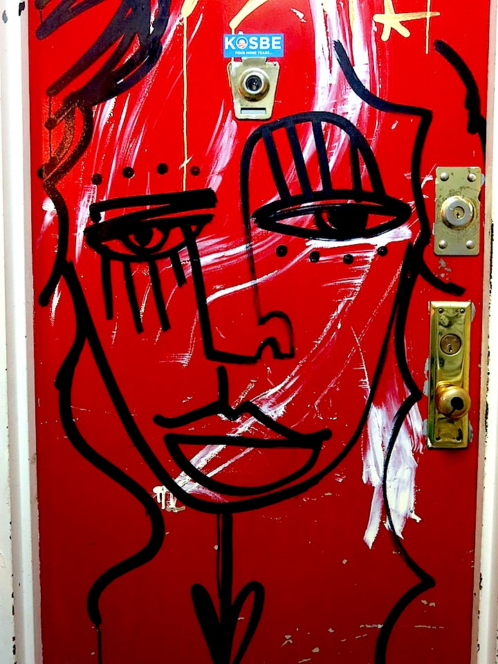 alice door NYC's Expressive Doors, Part IV:  Ewok, Mor, David Shillinglaw, Jordan Betten, Stikki Peaches, Alice Mizrachi, Jerkface, LMNOP and Ludo