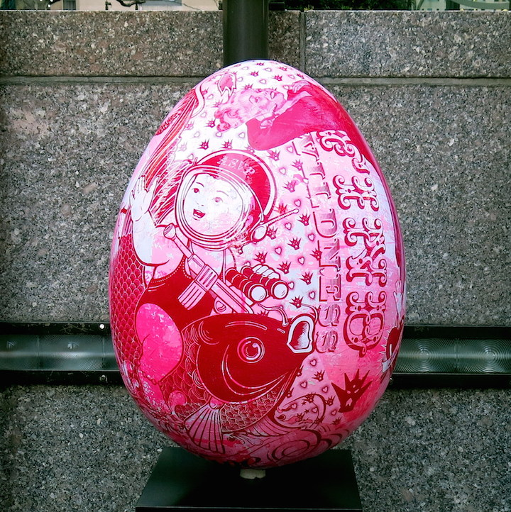 ASVP egg The Big Egg Hunt Finale at Rockefeller Center through Friday with Vexta, Enx, Dain, Seen, Indie 184, Retna, Pure Evil, ASVP & more