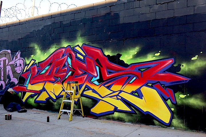 Yes 1 graffiti Bushwick Busy in Bushwick — Part II: New by Vor 138, Asend, Logek, Doves, SP.One and Yes1
