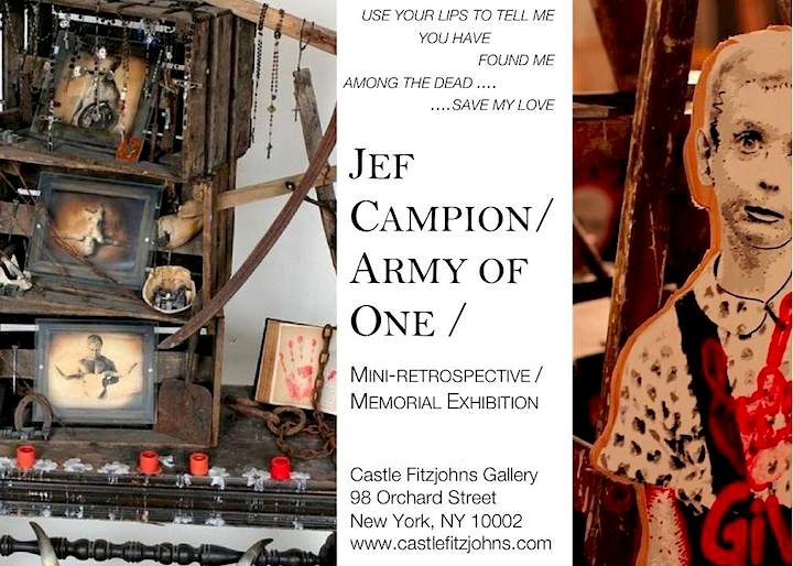 army of one Jef Campion aka Army of One at Castle Fitzjohns Gallery