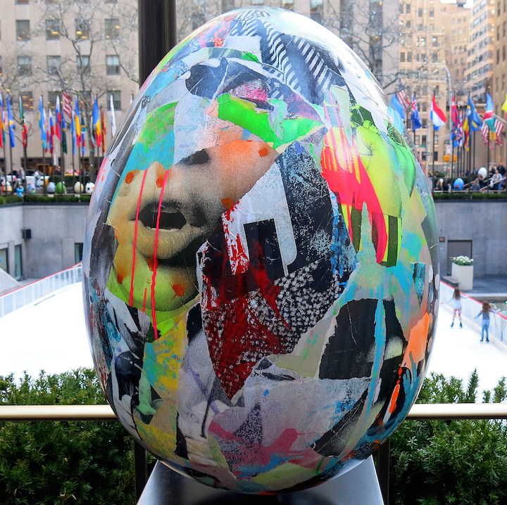 dain street art egg The Big Egg Hunt Finale at Rockefeller Center through Friday with Vexta, Enx, Dain, Seen, Indie 184, Retna, Pure Evil, ASVP & more